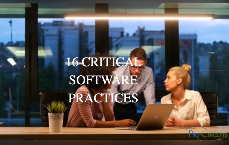 16 Critical Software Practices